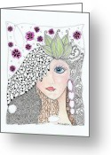 Paula Dickerhoff Greeting Cards - Vivian Greeting Card by Paula Dickerhoff