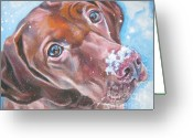 Hungarian Pointer Greeting Cards - Vizsla Greeting Card by Lee Ann Shepard