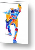Hungarian Pointer Greeting Cards - Vizsla Running  Greeting Card by Jo Lynch