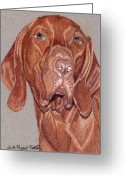 Hungarian Pointer Greeting Cards - Vizsla Vignette Greeting Card by Anita Putman