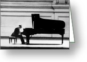 Bench Greeting Cards - Vladimir Horowitz Greeting Card by Granger