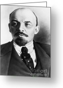 Russian Revolution Greeting Cards - Vladimir Lenin, Russian Marxist Greeting Card by Photo Researchers