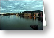 Vltava Digital Art Greeting Cards - Vltava View 2 Greeting Card by Madeline Ellis