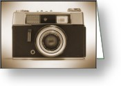 White Digital Art Greeting Cards - Voigtlander Rangefinder Camera Greeting Card by Mike McGlothlen