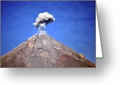 Disaster Greeting Cards - Volcano! Greeting Card by Alan B. Photography