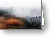 Volcano Greeting Cards - Volcano Fence Greeting Card by Ty Helbach