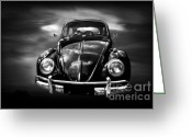 Beetles Greeting Cards - Volkswagen Greeting Card by Charuhas Images