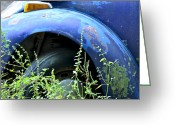 Old Volkswagen Car Greeting Cards - Volkswagen Graveyard - 1 Greeting Card by Carolyn Marshall