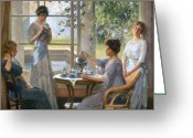 Eleanor Greeting Cards - Vonnoh: Mrs. Wilson Greeting Card by Granger