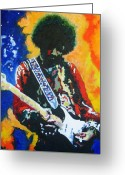 Spangled Greeting Cards - Voodoo Child Greeting Card by Ronald Young