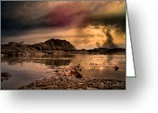 The Rocks Greeting Cards - Vortex Greeting Card by Bob Orsillo