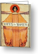 Poster Photo Greeting Cards - Votes For Women, 1911 Greeting Card by Granger