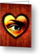 Partner Greeting Cards - Voyeurism, Conceptual Artwork Greeting Card by Stephen Wood