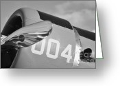 Snv Greeting Cards - Vultee BT-13 Valiant in BW Greeting Card by Lynda Dawson-Youngclaus