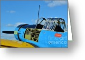 Snv Greeting Cards - Vultee BT-13 Valiant  Greeting Card by Lynda Dawson-Youngclaus