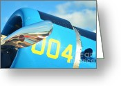Snv Greeting Cards - Vultee BT-13 Valiant Nose Greeting Card by Lynda Dawson-Youngclaus
