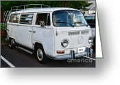 Campervan Greeting Cards - VW Camper Greeting Card by Paul Ward