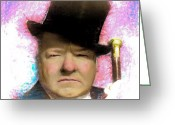 Arne J Hansen Greeting Cards - W C Fields Greeting Card by Arne Hansen