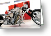 Custom Culture Greeting Cards - W Tuning Chopper Greeting Card by Taras Khlibovych