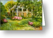 Low Country Greeting Cards - Wachesaw Plantation Greeting Card by Jane Woodward