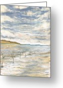 Of; Ole Mejlvang Hedeager Greeting Cards - Wadden Sea Greeting Card by Ole Hedeager Mejlvang