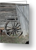 N Taylor Greeting Cards - Wagon Wheel Greeting Card by N Taylor
