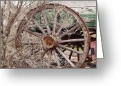 Brake Greeting Cards - Wagon Wheel Greeting Card by Robert Frederick