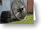 Berks County Greeting Cards - Wagon Wheel Greeting Card by Robert Sander