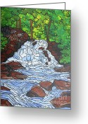 The Berkshires Greeting Cards - Wahconah Falls II Greeting Card by Tracy Levesque