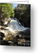 Western Massachusetts Greeting Cards - Wahconah Falls Greeting Card by Meandering Photography