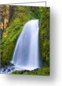 Oregon Photo Greeting Cards - Wahkeena Greeting Card by Mike  Dawson