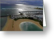 Waikiki Beach Greeting Cards - Waikiki Beach I Greeting Card by Elizabeth Hoskinson