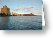 Waikiki Beach Greeting Cards - Waikiki Beach Greeting Card by Kelly Wade