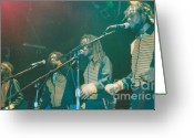 Music Artists Greeting Cards - Wailing Souls Greeting Card by Mia Alexander