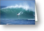 Waimea Greeting Cards - Waimea Bay Boomer Greeting Card by Kevin Smith