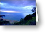 Waimea Greeting Cards - Waimea Bay Evening Greeting Card by Kevin Smith