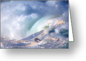 Kevin W .smith Greeting Cards - Waimea Bay Shorebreak Greeting Card by Kevin Smith
