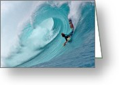 Waimea Greeting Cards - Waimea Bodyboarder Greeting Card by Kevin Smith