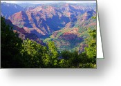 Kevin W .smith Greeting Cards - Waimea Canyon Kauai Greeting Card by Kevin Smith