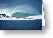 Kevin W .smith Greeting Cards - Waimea Wave Greeting Card by Kevin Smith