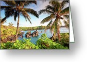 Pacific Islands Greeting Cards - Wainapanapa, Maui, Hawaii Greeting Card by M.M. Sweet