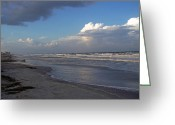 Grey Clouds Greeting Cards - Waiting at the Edge of Eternity Greeting Card by Patricia Taylor