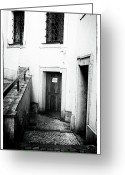 Czech Greeting Cards - Waiting Behind the Door Greeting Card by John Rizzuto