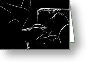 Erotica Digital Art Greeting Cards - Waiting for his touch Greeting Card by Stefan Kuhn