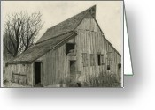 Old Barns Greeting Cards - Waiting For Life Greeting Card by Bryan Baumeister