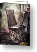 Red Photographs Greeting Cards - Waiting For Soup Greeting Card by Jerry Cordeiro