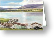 Co Galway Greeting Cards - Waiting for the Mayfly Greeting Card by Irish Art