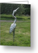 Great Sculpture Greeting Cards - Waiting For The Moment Greeting Card by Ben Dye