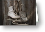 Ice Skates Greeting Cards - Waiting for the Pond to Freeze Greeting Card by Jerry McElroy