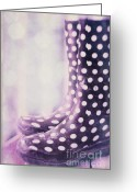 Footwear Greeting Cards - Waiting For The Rain Greeting Card by Priska Wettstein